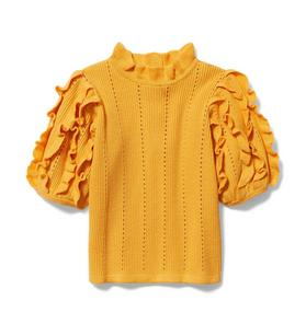 Ribbed Ruffle Sweater