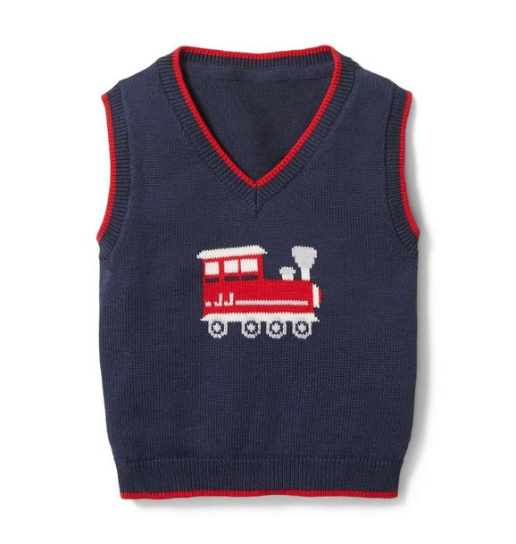 Baby Train Sweater Vest