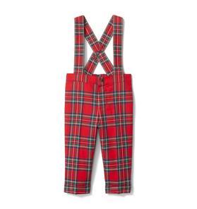 Baby Plaid Suspender Pant