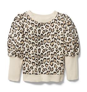 Leopard Puff Sleeve Sweatshirt