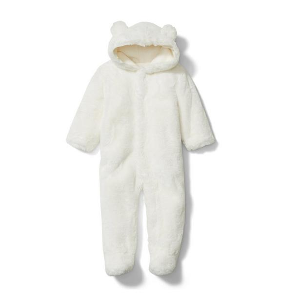 Baby Faux Fur Bear 1-Piece
