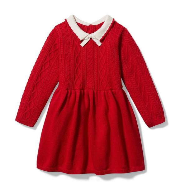 Baby Cable Knit Sweater Dress