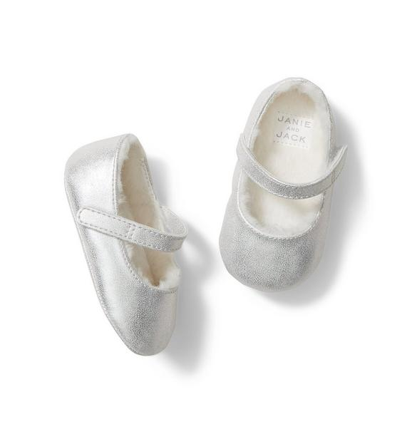 Baby Metallic Crib Shoe