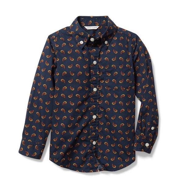 Paisley Poplin Shirt