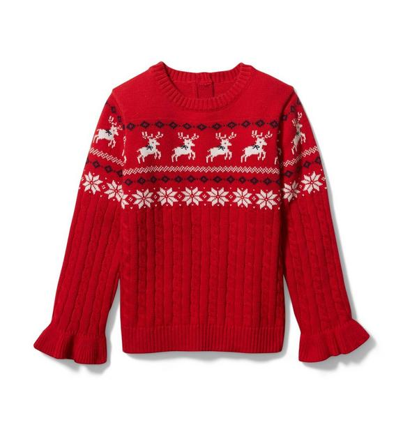 Janie and Jack Reindeer Sweater