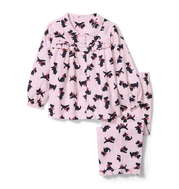 Dog Print Pajama Set