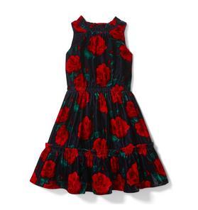 Rose Velvet Dress