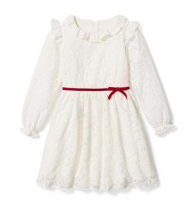 Lace Ruffle Collar Dress