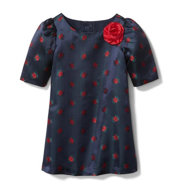 Rose Jacquard Dress