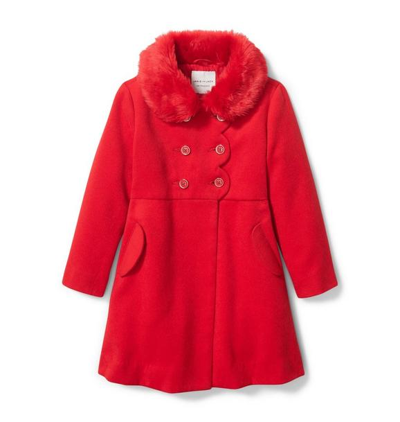 Janie and Jack Faux Fur Collar Coat