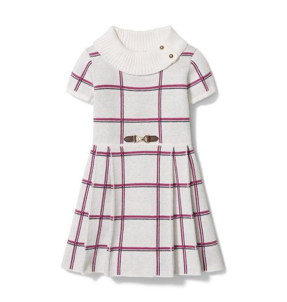 Plaid Buckle Dress