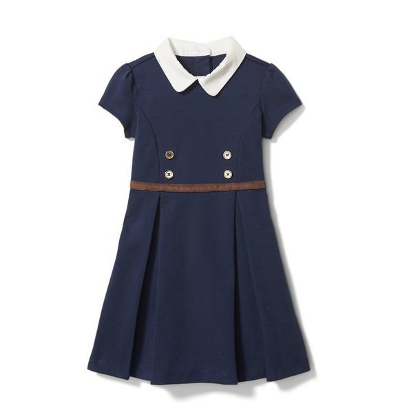 Collared Ponte Dress