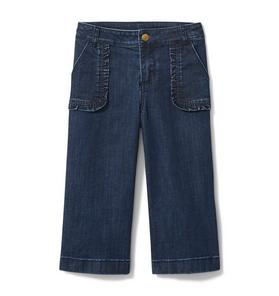 Wide Leg Jean In Atlantic Wash