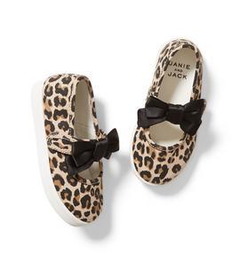 Leopard Bow Sneaker