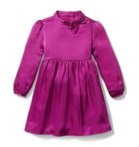 Bow Mock Neck Dress