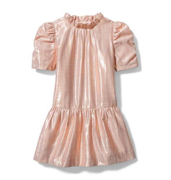 Striped Metallic Dropwaist Dress