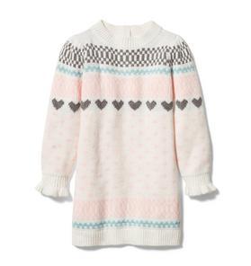 Heart Fair Isle Sweater Dress