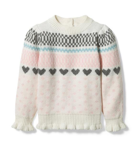 Heart Fair Isle Sweater