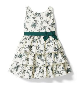 Toile Tiered Dress
