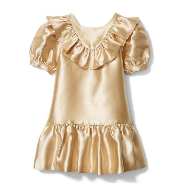 Ruffle Puff Sleeve Dress
