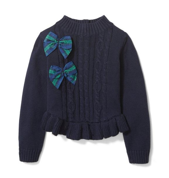 Peplum Bow Sweater