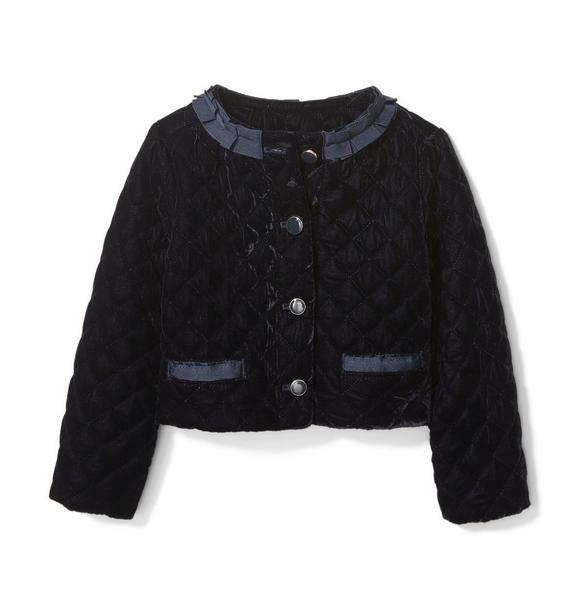 Janie and Jack Velvet Quilted Jacket
