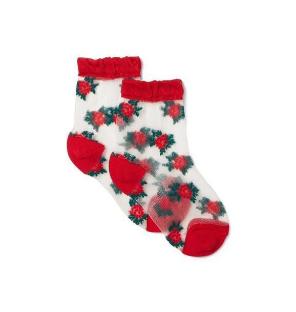 Rose Sheer Sock
