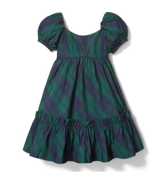 Plaid Puff Sleeve Dress