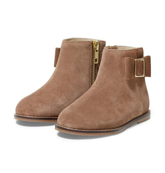 Suede Bow Bootie