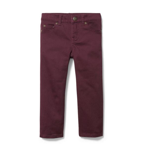 Sateen Straight Pant