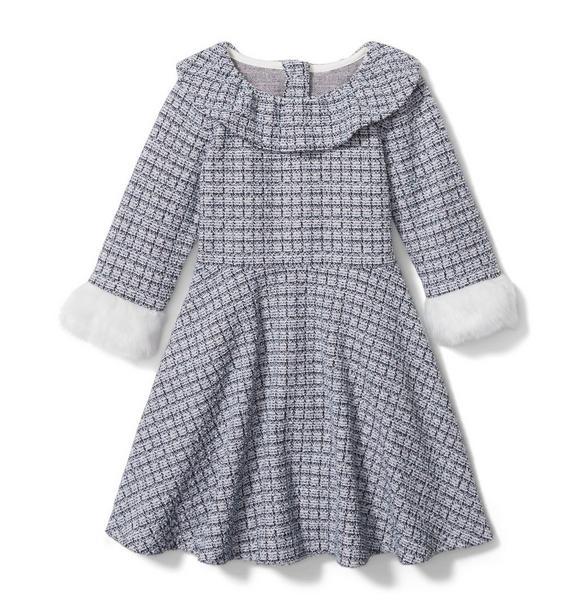 Jacquard Ruffle Collar Dress