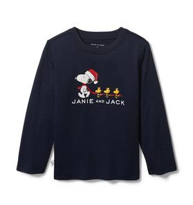 PEANUTS™ Christmas Snoopy And Woodstock Tee