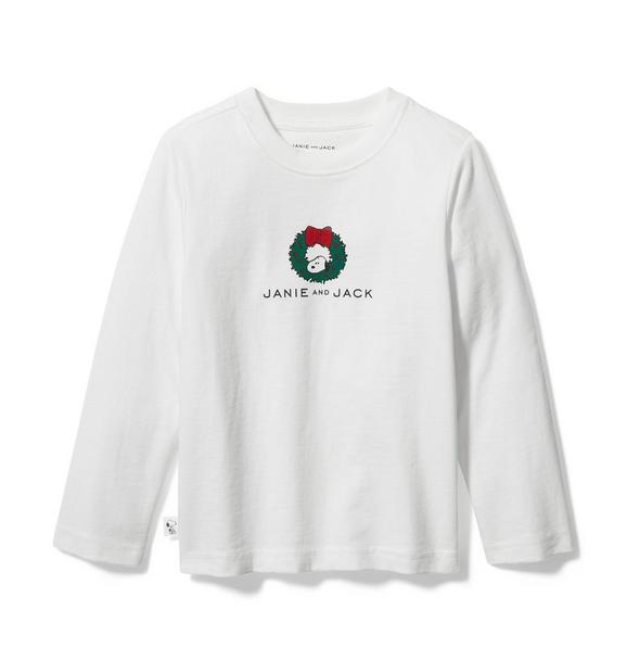 PEANUTS™ Christmas Wreath Snoopy Tee