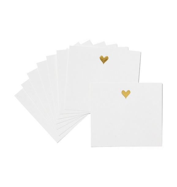 Sugar Paper Gold Heart Lunch Box Notes