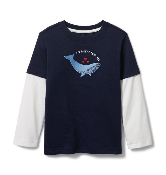 Whale Love Layered Tee