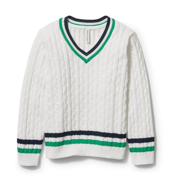 Stripe Cable Knit Sweater