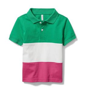Colorblocked Polo