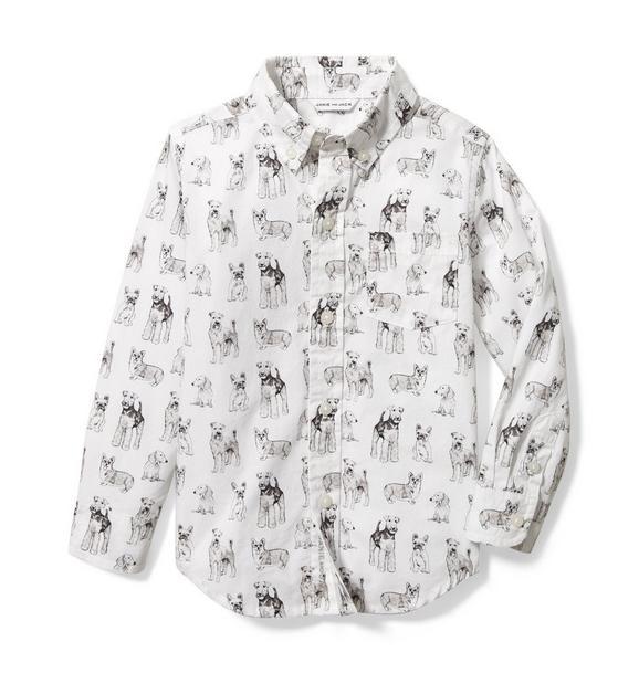 Dog Toile Poplin Shirt