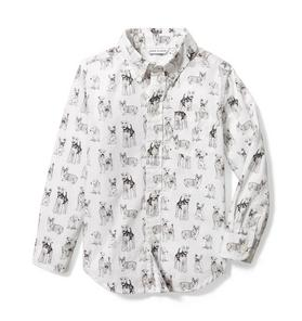 Dog Toile Poplin Shirt