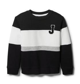 Stripe Crewneck Sweatshirt