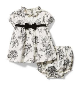 Baby Floral Toile Matching Set