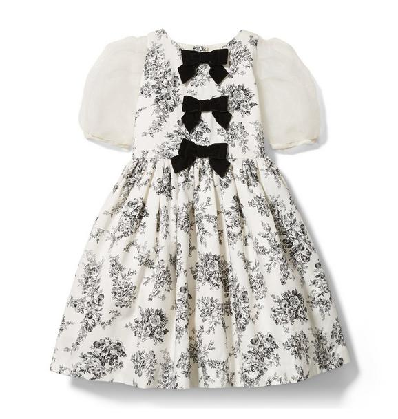 Janie and Jack Floral Toile Bow Dress