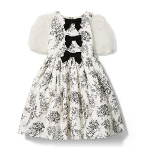 Floral Toile Bow Dress