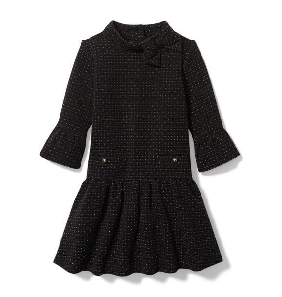 Janie and Jack Dot Jacquard Dress