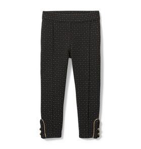 Dot Jacquard Button Cuff Pant