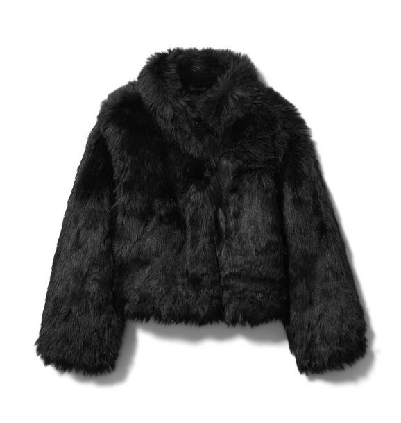 Janie and Jack Faux Fur Cropped Jacket
