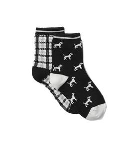 Dog And Plaid Sock 2-Pack