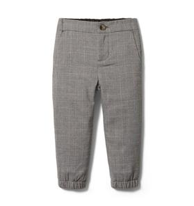 Plaid Wool Jogger