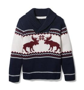 Moose Shawl Collar Pullover