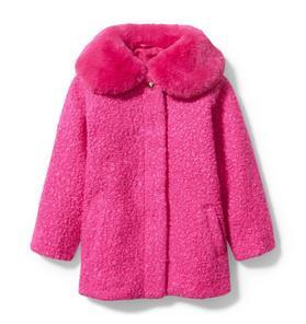 Sherpa Faux Fur Collar Coat